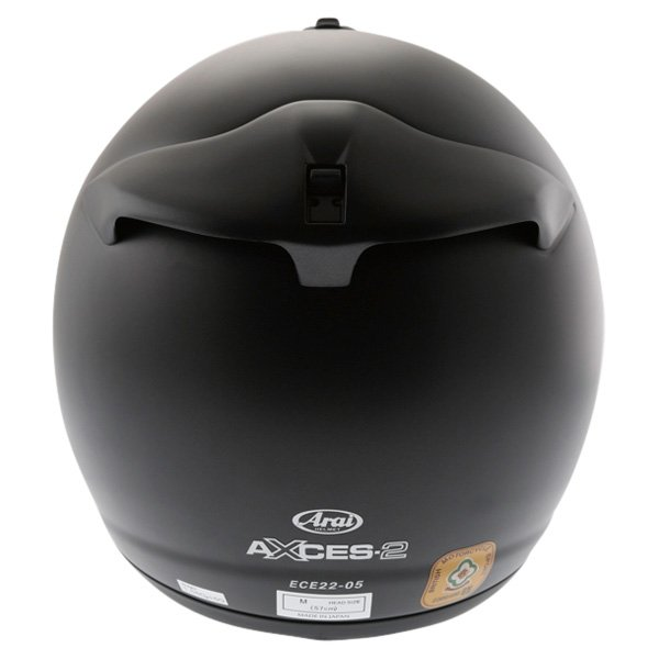 Arai Axces II Frost Black Full Face Motorcycle Helmet Back