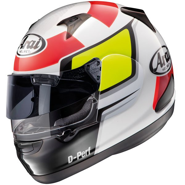 Arai Quantum ST Puro White Full Face Motorcycle Helmet Front Left