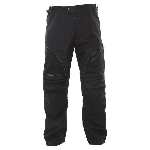 Alpinestars Ast-1 2014 Mens Black Textile Motorcycle Pants Front