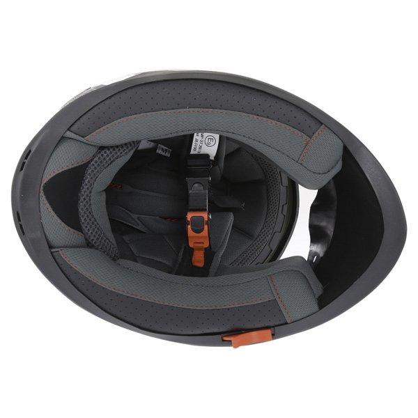 BKS Podium Black White Blue Full Face Motorcycle Helmet Inside