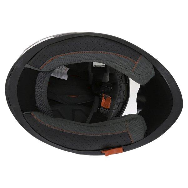 BKS Logo Black White Grey Full Face Motorcycle Helmet Inside
