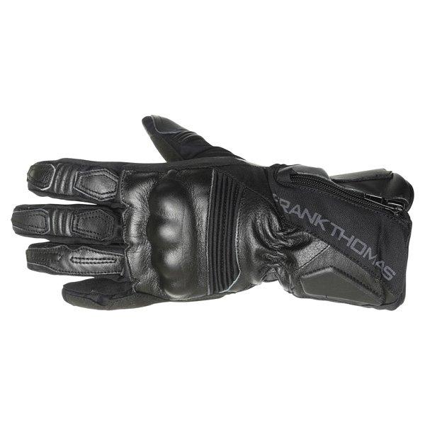 Frank Thomas 503 Black Motorcycle Gloves Back
