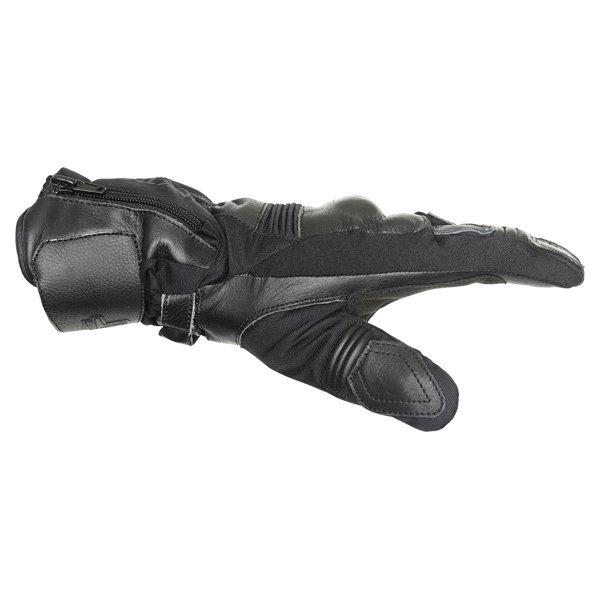 Frank Thomas 503 Black Motorcycle Gloves Thumb side