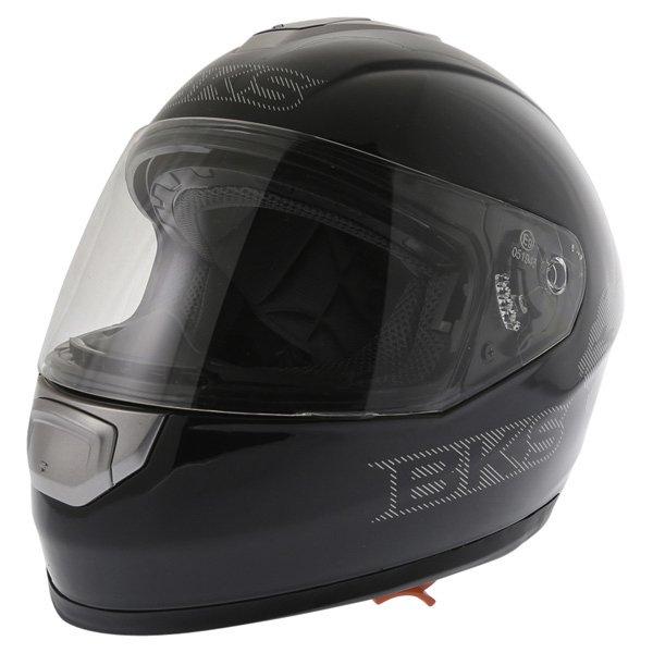 BKS Plain 2014 Black Full Face Motorcycle Helmet Front Left