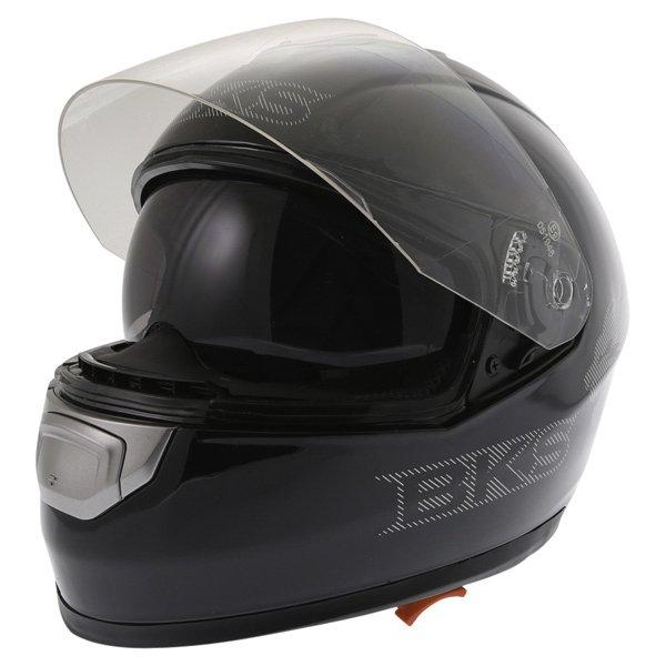 BKS Plain 2014 Black Full Face Motorcycle Helmet Open With Sun Visor