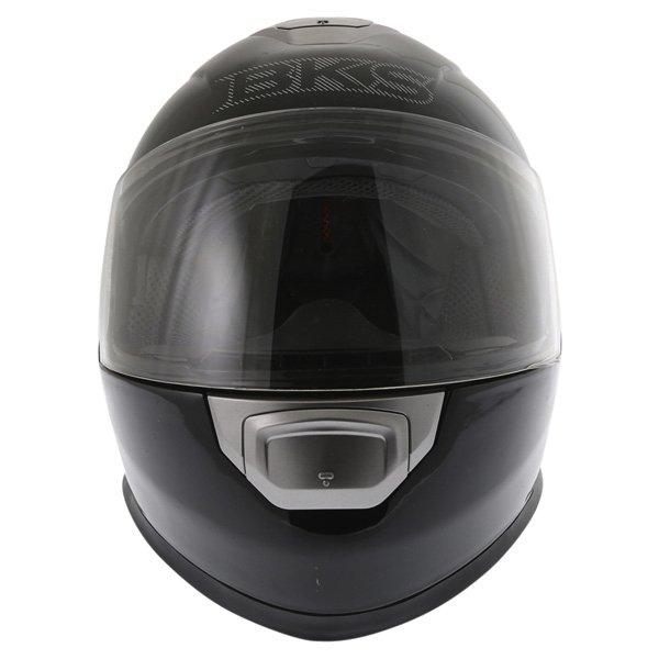 BKS Plain 2014 Black Full Face Motorcycle Helmet Front