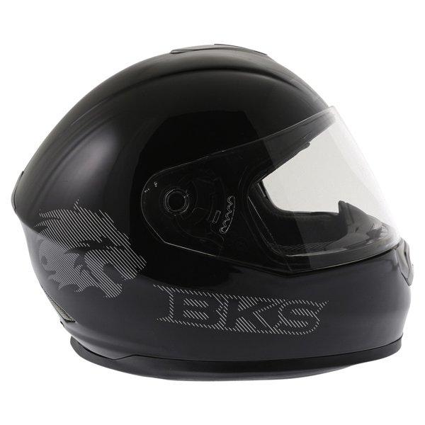 BKS Plain 2014 Black Full Face Motorcycle Helmet Right Side