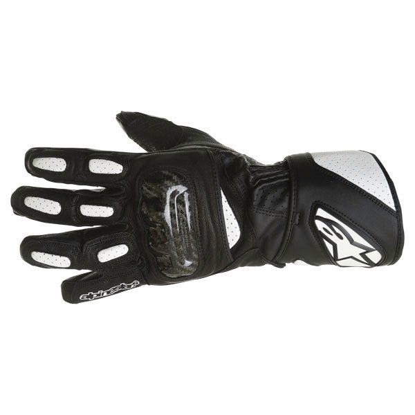 Alpinestars SP-2 Black White Motorcycle Gloves Back