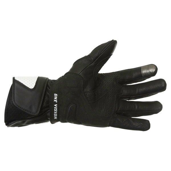 Alpinestars SP-2 Black White Motorcycle Gloves Palm