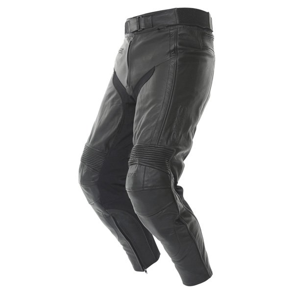 BKS Fury Black Leather Motorcycle Jeans Riding crouch