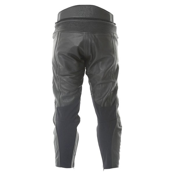 BKS Fury Black Leather Motorcycle Jeans Rear