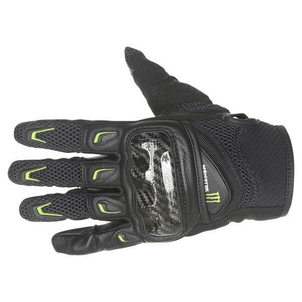 Alpinestars M30 Air Monster Black Green Motorcycle Gloves Back