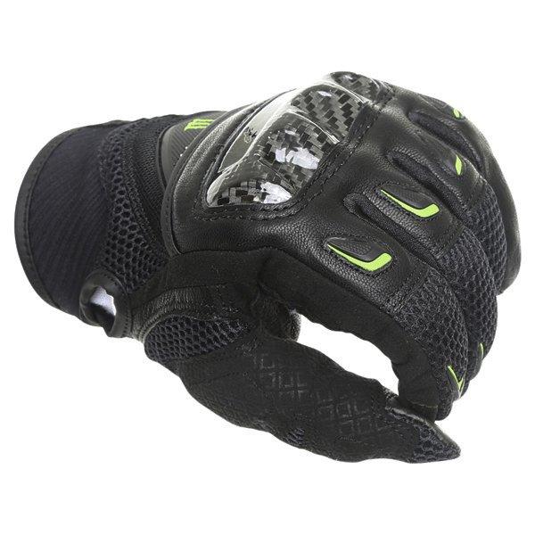 Alpinestars M30 Air Monster Black Green Motorcycle Gloves Knuckle