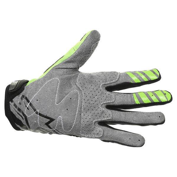 Alpinestars Techstar Black Green Motocross Gloves Palm