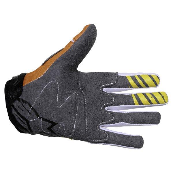 Alpinestars Techstar Yellow Orange White Motocross Gloves Palm