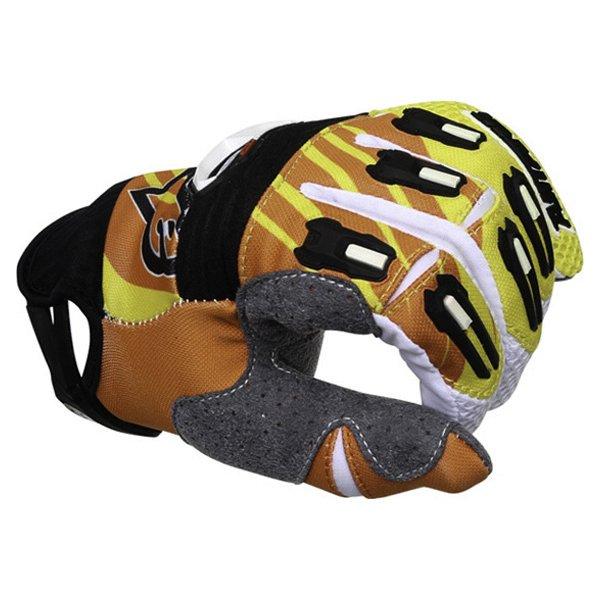Alpinestars Techstar Yellow Orange White Motocross Gloves Knuckle