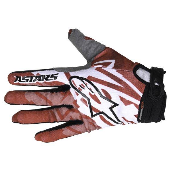 Alpinestars Racer0 Red Black Motocross Gloves Back