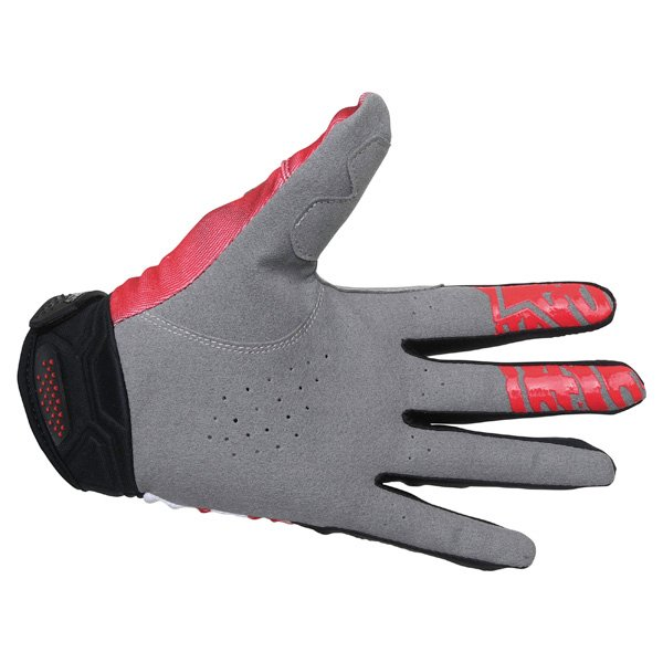 Alpinestars Racer Red Black Motocross Gloves Palm