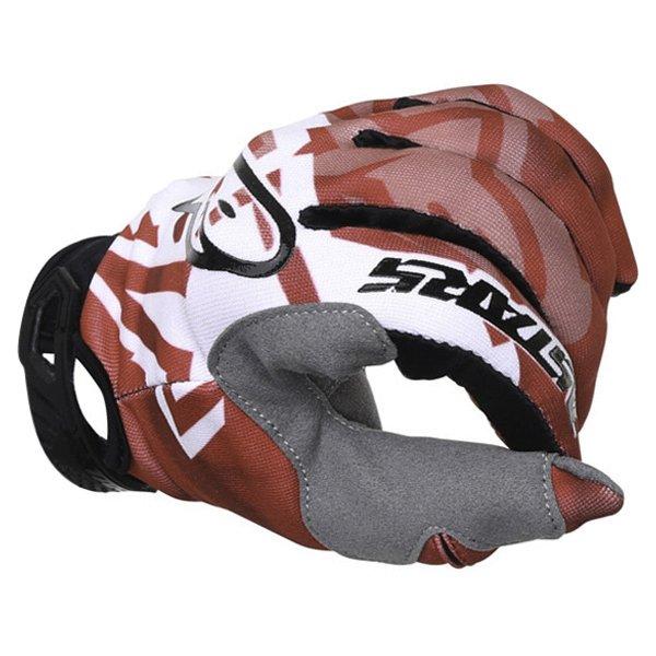 Alpinestars Racer Red Black Motocross Gloves Knuckle