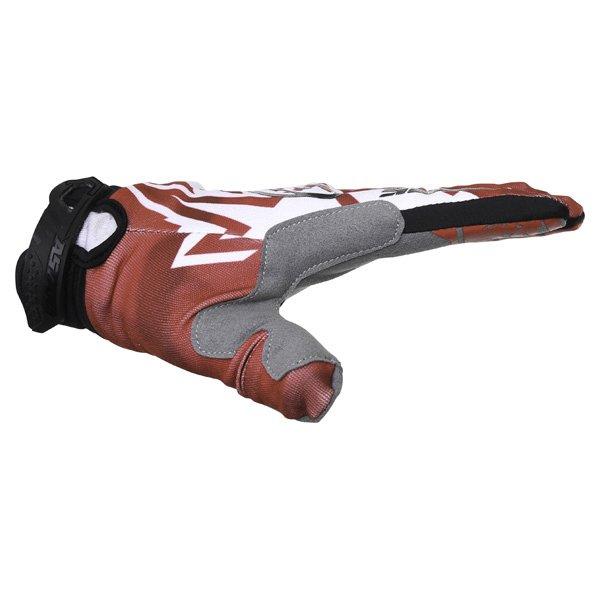 Alpinestars Racer Red Black Motocross Gloves Thumb side