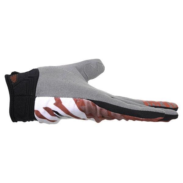 Alpinestars Racer Red Black Motocross Gloves Little finger side