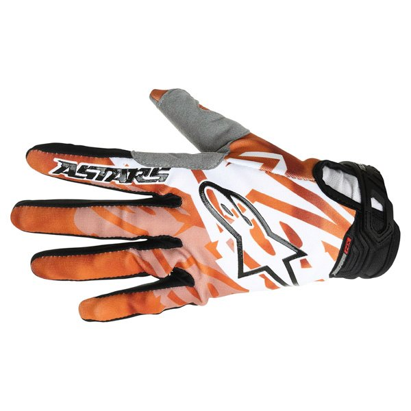 Alpinestars Racer Orange Black Motocross Gloves Back