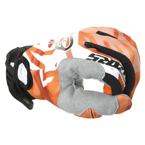 Alpinestars Racer Orange Black Motocross Gloves Knuckle