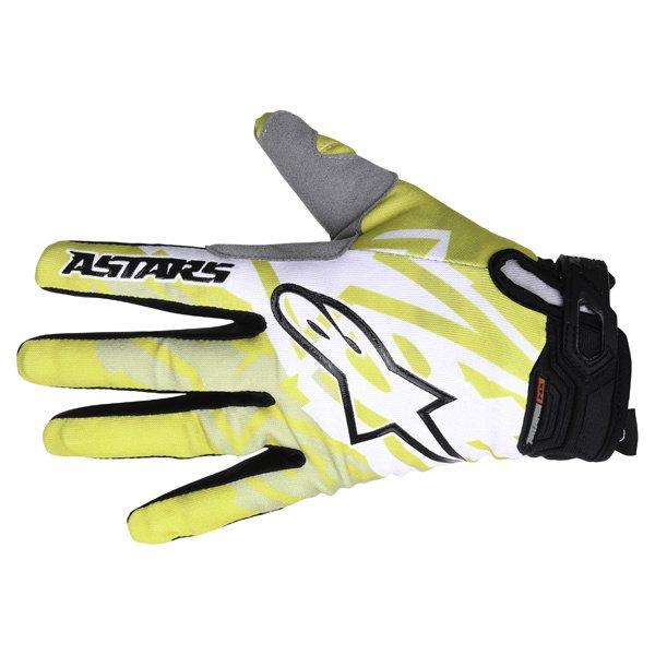 Alpinestars Racer Yellow Black Motocross Gloves Back