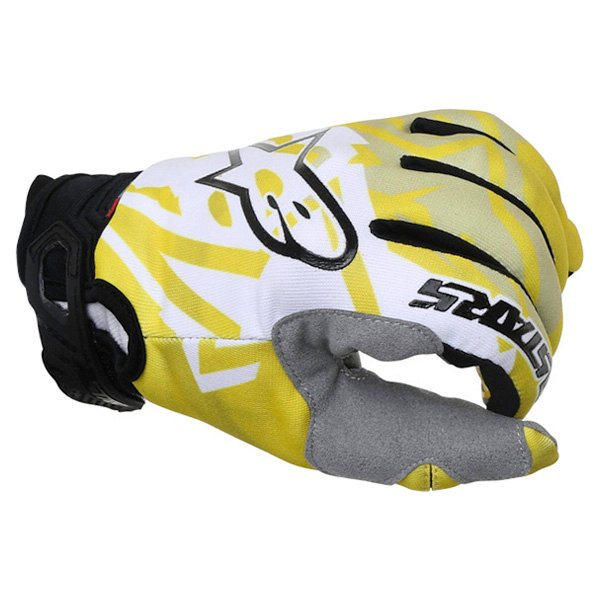 Alpinestars Racer Yellow Black Motocross Gloves Knuckle