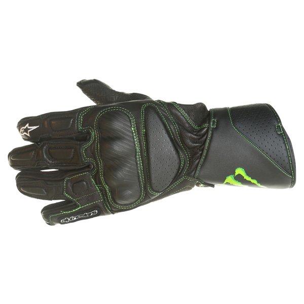 Alpinestars SP-M8 Monster Black Green Motorcycle Glove Back
