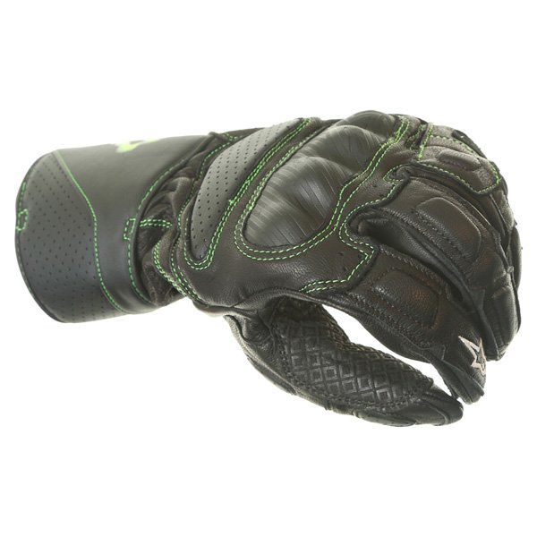 Alpinestars SP-M8 Monster Black Green Motorcycle Glove Knuckle
