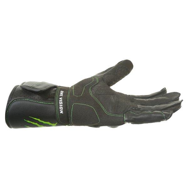 Alpinestars SP-M8 Monster Black Green Motorcycle Glove Little finger side