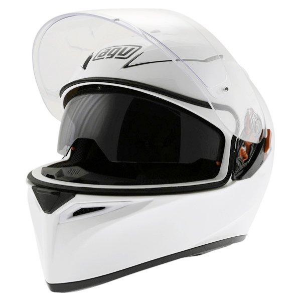 AGV K3 SV White Full Face Motorcycle Helmet Open With Sun Visor