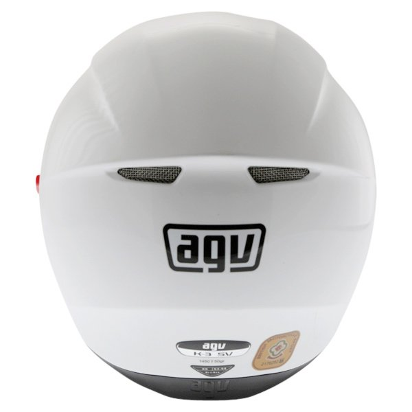 AGV K3 SV White Full Face Motorcycle Helmet Back