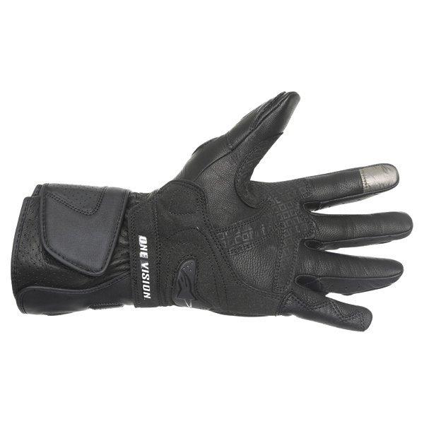 Alpinestars SP-M3 Black Green Motorcycle Gloves Palm