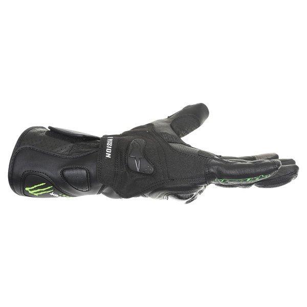 Alpinestars SP-M3 Black Green Motorcycle Gloves Little finger side