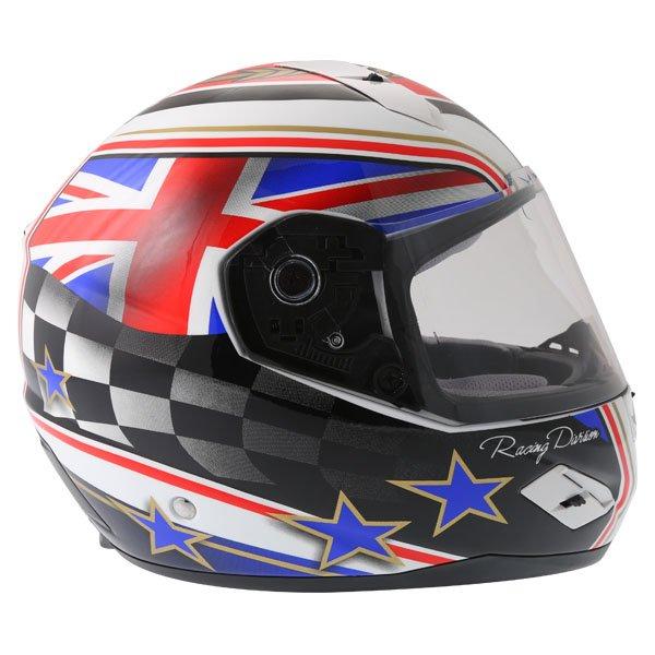 BKS 8 Flag Series Union Jack Full Face Motorcycle Helmet Right Side
