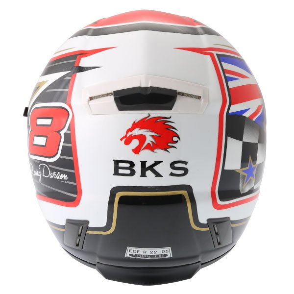 BKS 8 Flag Series Union Jack Full Face Motorcycle Helmet Back