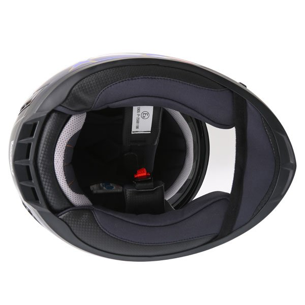 BKS 8 Flag Series Union Jack Full Face Motorcycle Helmet Inside