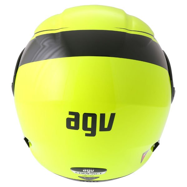 AGV Compact Course Yellow Black Flip Front Motorcycle Helmet Back