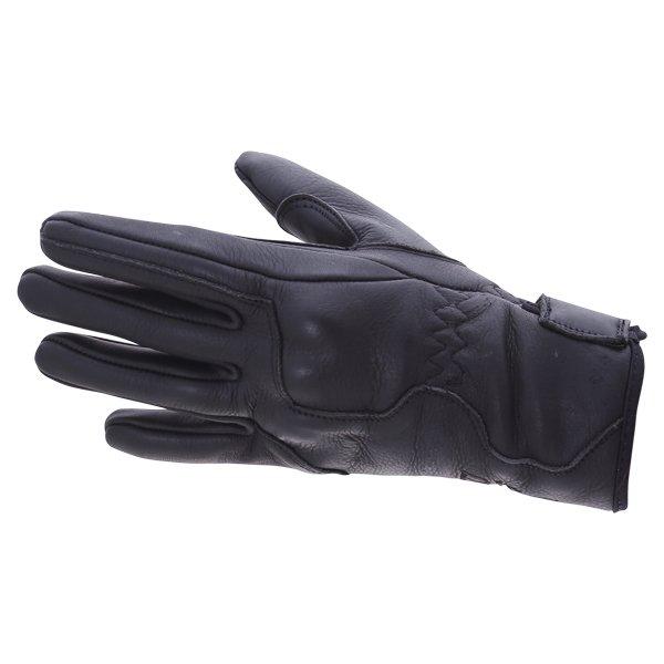 BKS Sase I-7-14 Ladies Black Motorcycle Gloves Back