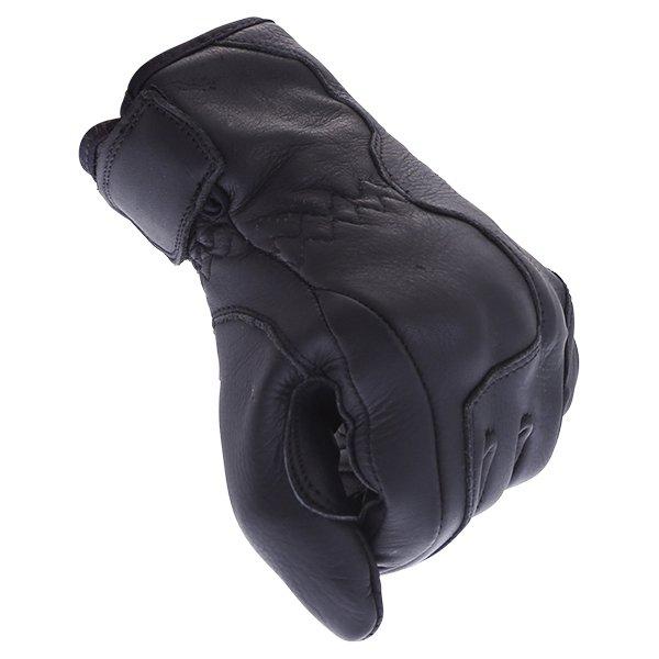 BKS Sase I-7-14 Ladies Black Motorcycle Gloves Knuckle