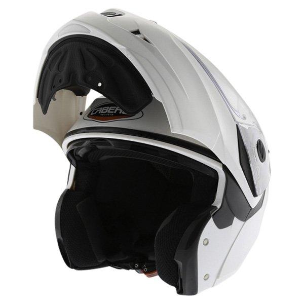 Caberg Duke White Flip Front Motorcycle Helmet Flip Open