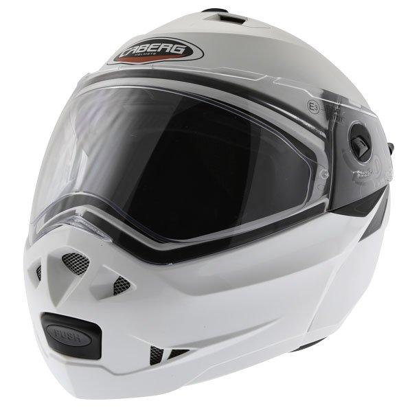 Caberg Duke White Flip Front Motorcycle Helmet Front Left