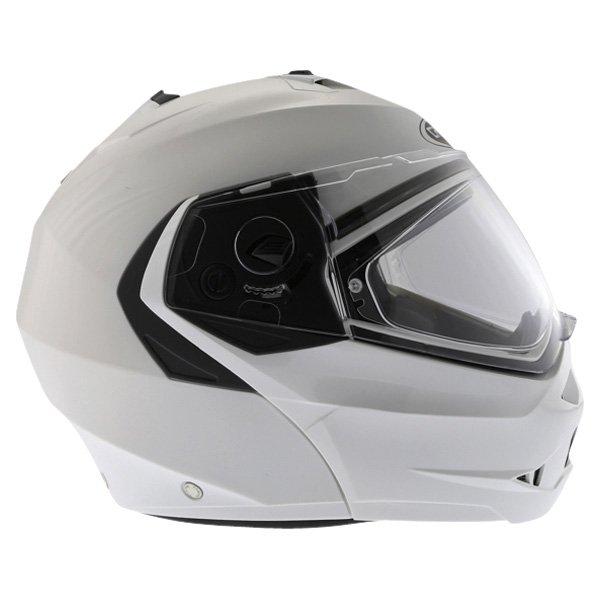 Caberg Duke White Flip Front Motorcycle Helmet Right Side