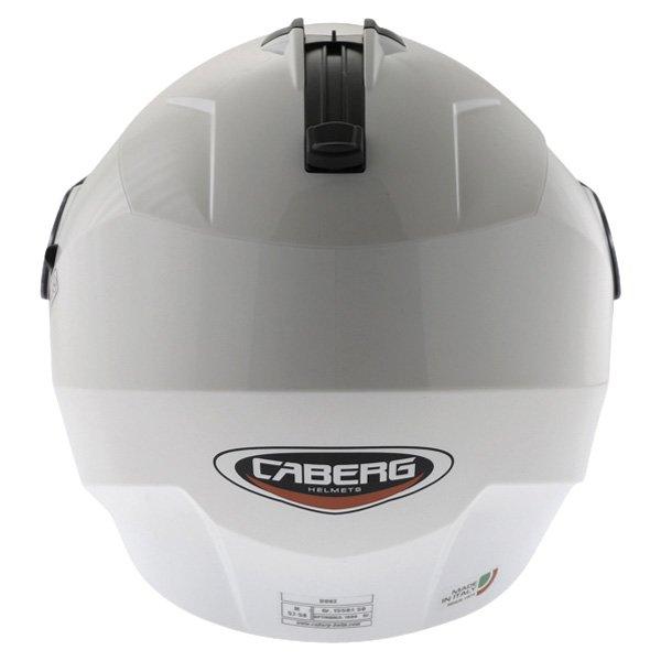 Caberg Duke White Flip Front Motorcycle Helmet Back
