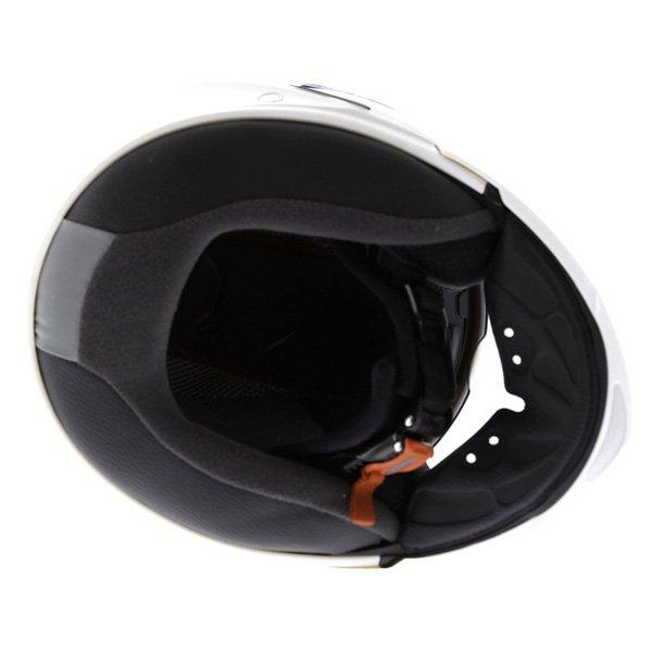 Caberg Duke White Flip Front Motorcycle Helmet Inside