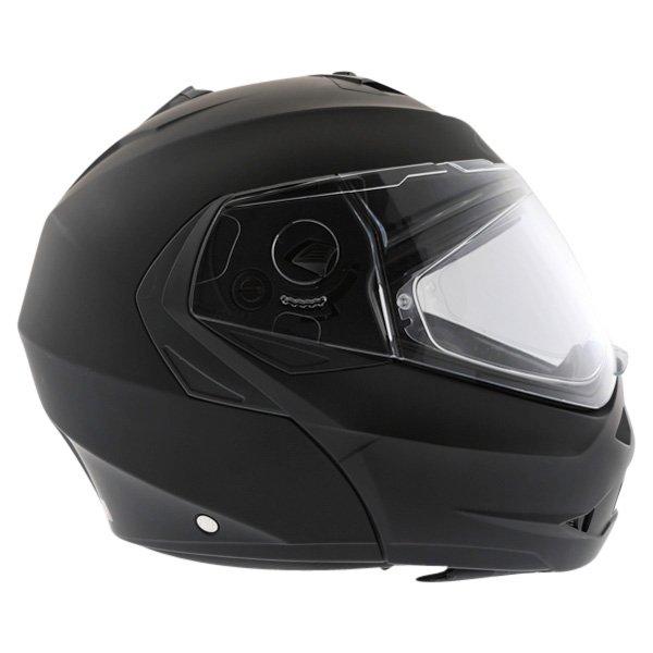 Caberg Duke Matt Black Flip Front Motorcycle Helmet Right Side