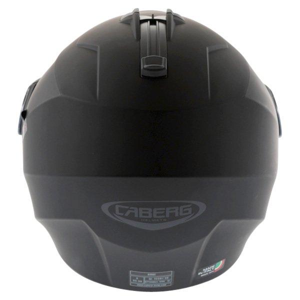 Caberg Duke Matt Black Flip Front Motorcycle Helmet Back