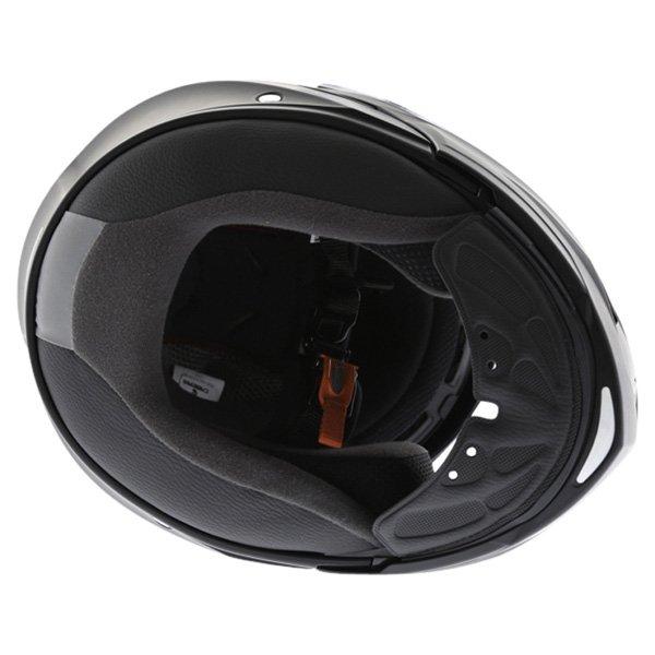 Caberg Duke Matt Black Flip Front Motorcycle Helmet Inside